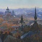 Panoramic view of Lviv by Vera Kalinovska