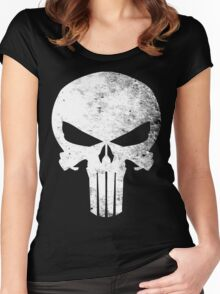 Punisher Grunge Women's Fitted Scoop T-Shirt