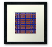 blue and brown modern abstract Framed Print