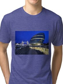 Tower Bridge and City Hall Tri-blend T-Shirt