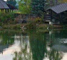 Zen Huts Reflection Sticker