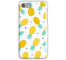 Pineapple and hearts iPhone Case/Skin