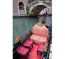 ....come and see Venice in my Gondola.... Photographic Print