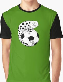 Soccer  Chameleon  Graphic T-Shirt