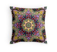 Abstract Spectral Mandala Throw Pillow
