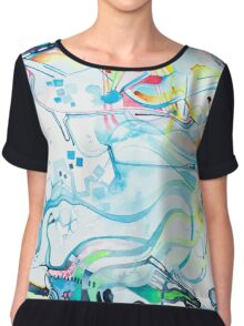 Fibroblasts  - Watercolor Painting Chiffon Top
