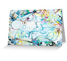 Fibroblasts  - Watercolor Painting Greeting Card