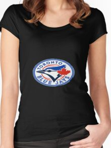 blue jays logo Women's Fitted Scoop T-Shirt