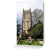 Tower - St Mary the Virgin, Berkeley, Gloucestershire  Greeting Card