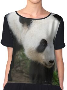 Panda in  Ocean Park Hong Kong Chiffon Top