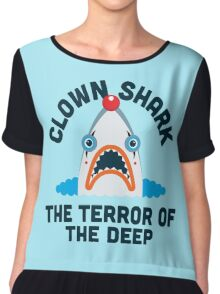 Clown Shark - Terror of the Deep Chiffon Top