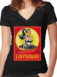 Latex-Maid - Color Women's Fitted V-Neck T-Shirt