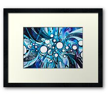 Medium Hadron Collider - Watercolor Painting Framed Print