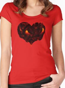 I Lava You With All My Heart Women's Fitted Scoop T-Shirt