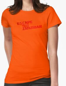 MGS - Escape From Zanzibar Womens Fitted T-Shirt