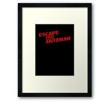 MGS - Escape From Zanzibar Framed Print