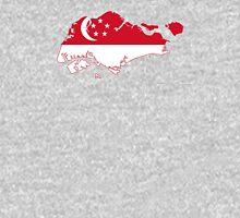 Flag Map of Singapore  Unisex T-Shirt