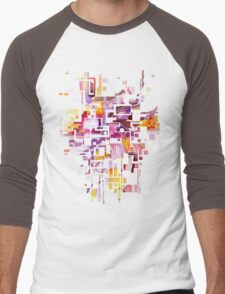 Sunberry - Abstract Watercolor Painting Men's Baseball ¾ T-Shirt