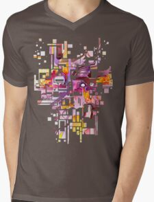 Sunberry - Abstract Watercolor Painting Mens V-Neck T-Shirt