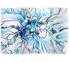 Sub-Atomic Stress Release Therapy - Watercolor Painting Poster