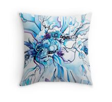 Sub-Atomic Stress Release Therapy - Watercolor Painting Throw Pillow