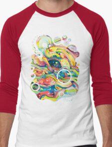 Timeless June 26 2007 - Watercolor Painting Men's Baseball ¾ T-Shirt