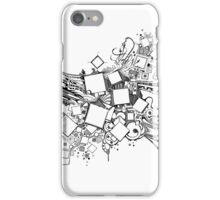 Number One Box - Sketch Pen & Ink Illustration Art iPhone Case/Skin