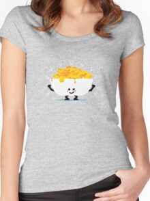 Character Fusion - Just Mac&Cheese Women's Fitted Scoop T-Shirt