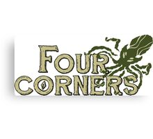 Four Corners colour logo - for light backgrounds Canvas Print