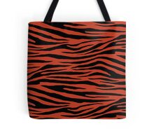 0189 Dark Pastel Red Tiger Tote Bag