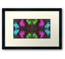 Color on Black Abstract Framed Print