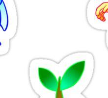 Pokemon   Chimchar, Piplup, Turtwig   Gradient   Stickers Sticker