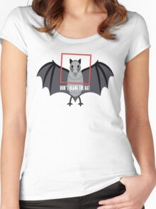 DON'T BLAME THE OLD BAT Women's Fitted Scoop T-Shirt