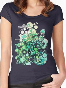 Visible Connections - Watercolor and Pen Art Women's Fitted Scoop T-Shirt