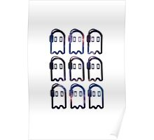 Napstablook with Headphones Multiplied Galaxy Poster