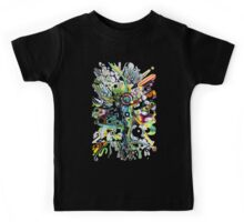Tubes of Wonder - Abstract Watercolor + Pen Illustration Kids Tee