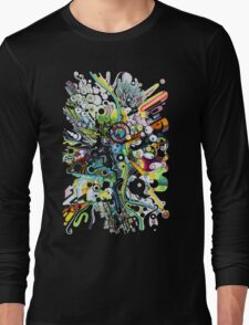 Tubes of Wonder - Abstract Watercolor + Pen Illustration Long Sleeve T-Shirt