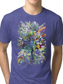Tubes of Wonder - Abstract Watercolor + Pen Illustration Tri-blend T-Shirt