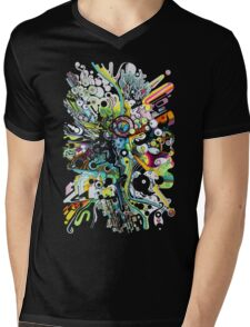 Tubes of Wonder - Abstract Watercolor + Pen Illustration Mens V-Neck T-Shirt
