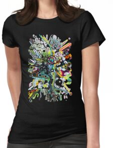 Tubes of Wonder - Abstract Watercolor + Pen Illustration Womens Fitted T-Shirt