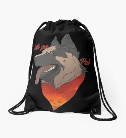 Lets go Pal Drawstring Bag