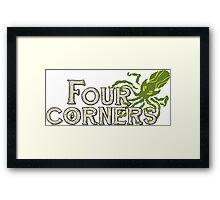 Four Corners colour logo - for dark backgrounds Framed Print
