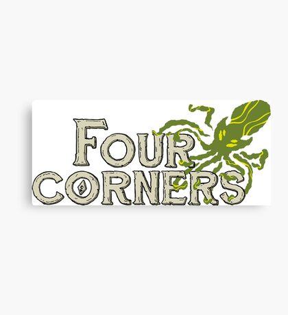 Four Corners colour logo - for dark backgrounds Canvas Print