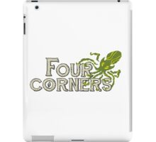 Four Corners colour logo - for dark backgrounds iPad Case/Skin