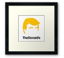 TheDonald's Framed Print