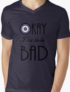 Okay... This looks bad Mens V-Neck T-Shirt