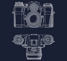 Vintage Photography - Contarex Blueprint T-Shirt