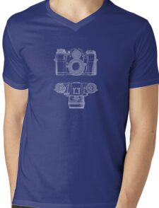 Vintage Photography - Contarex Blueprint Mens V-Neck T-Shirt