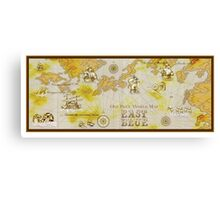 one piece map Canvas Print