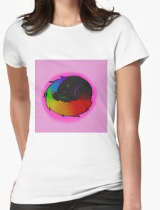 Rainbow Kitty Womens Fitted T-Shirt